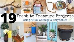 19 TRASH To TREASURE PROJECTS | Home Decor Using Garbage | Recycle Re-Purpose  DIY Up-Cycle No Waste
