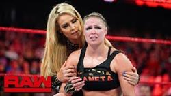 Natalya Helps Ronda Rousey Leave The Arena Following Bella Twins Attack: Raw Exclusive, Oct 8, 2018