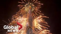 New Years 2021: Dubai Puts On Dazzling Fireworks Show From Iconic Burj Khalifa
