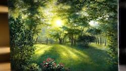 Sunlight Through The Back Yard | Landscape Painting