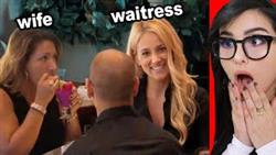 Waitress Flirts With Husband In Front Of Wife (WWYD)