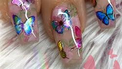 WATCH ME WORK: Holographic Butterflies And Shadowbox(Dimensional) Flower Effect Nails | Shape Change
